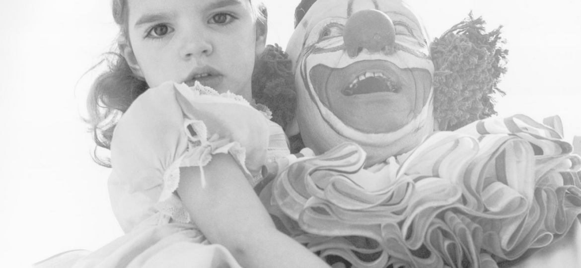 girl and clown