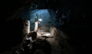 archaeologists in a tomb
