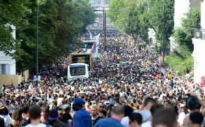 crowd in a street